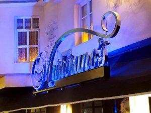 Martorano's Channel Letters above entrance