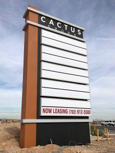 Cactus Shops 35ft Freestanding Sign
