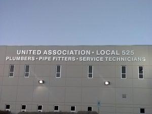 Unitied Association Brushed Aluminum Letters