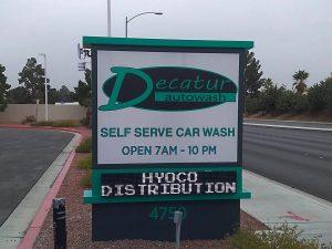 Decator Autowash Monument Sign