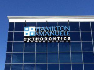 Hamilton & Manuele Orthodontics Raceway Mounted Channel Letters
