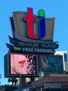 Treasure Island Free Parking Sign