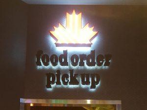 The D, Bar Canada, Interior Sign