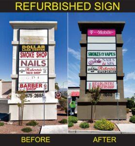 Sign refurbishment