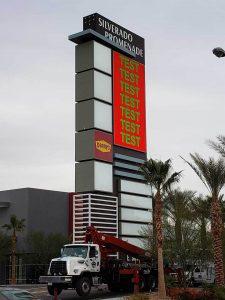 Silverado Promenade Pylon Sign